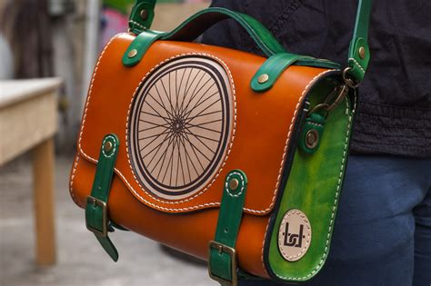 Handmade Saddlebags - bogdan deliu wheely saddle green