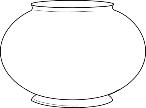 Fish Bowl Template Printable Free simple fishbowl outline clip at clker vector