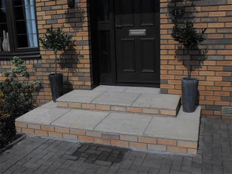 how to build steps to a front door brickwork services new large front steps bothwell