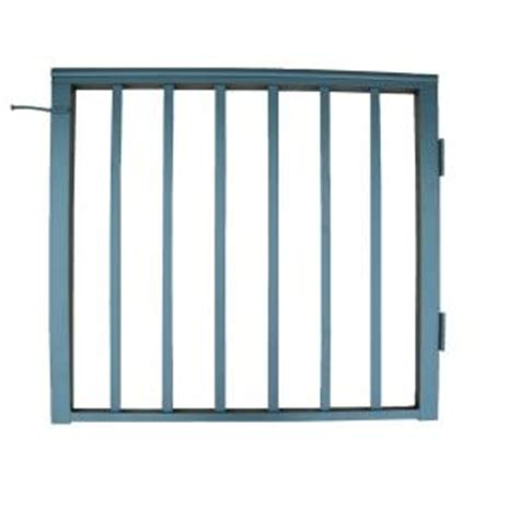home depot ez handrail metal fence panel gate metal