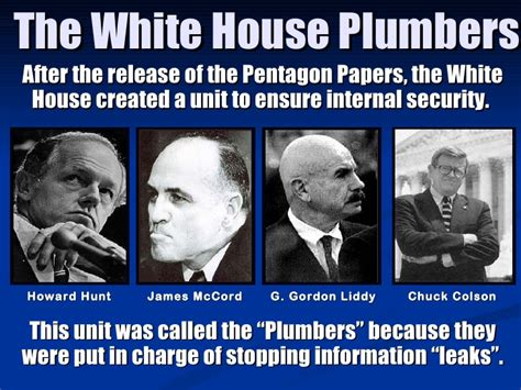 White House Plumbing by Unit 11 Powerpoint The 1970 S And 1980 S