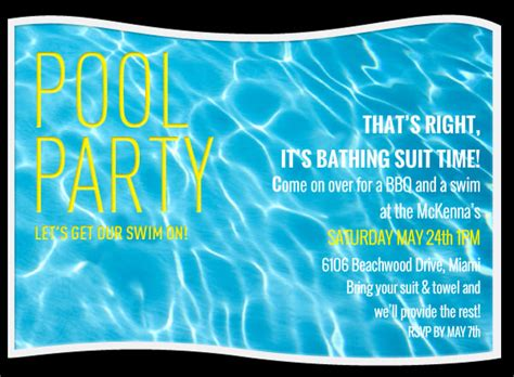 pool invitations free templates pool invitation template 38 free psd format