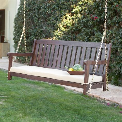 cushion swing have to have it coral coast cabos java brown wood porch