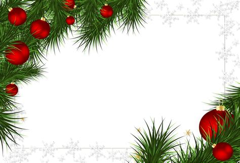 christmas transparent png borders and frames christmas