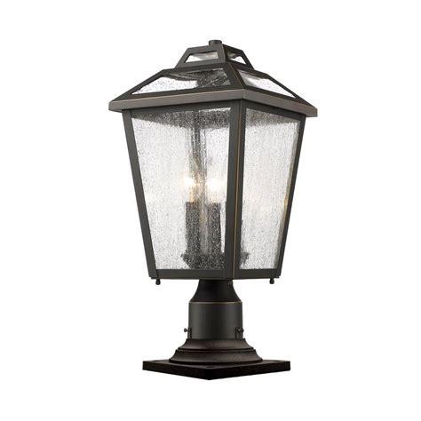 outdoor pier mount lights filament design wilkins 3 light rubbed bronze outdoor