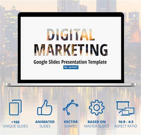 Free And Premium Google Slide Templates 56pixels Com Digital Marketing Presentation Template Free