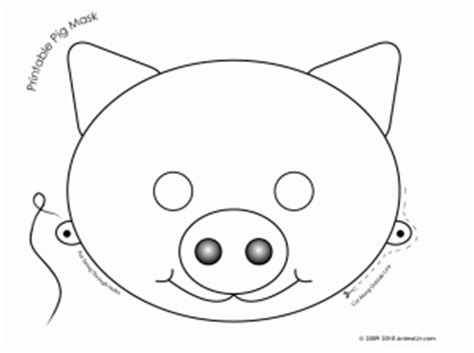 pig mask template printable pig mask car interior design