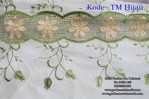 Yumindo Gorden Minimalis200 Cm X 100 Cm Hijau vitrage bordir import warna hijau kode tm hijau model gorden rumah minimalis modern terbaru