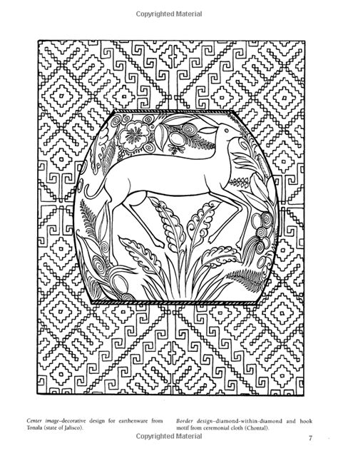 coloring pages folk art amazon com mexican folk art coloring book dover design