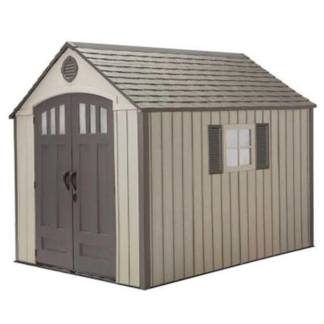 lifetime 8 ft x 10 ft storage shed 60085 the home depot