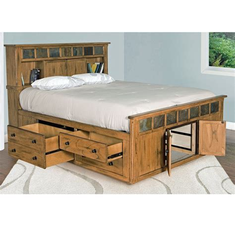 Corner Bookcase Oak Sedona Rustic Petite Storage Bedroom Suite E King Size