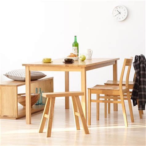 this vignette muji s solid oak dining table 1 950
