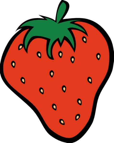 clipart frutta strawberry 12 clip at clker vector clip