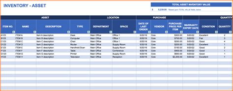 asset management spreadsheet excel spreadsheets group