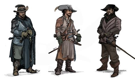 Three Musketeer musketeers by weremagnus on deviantart