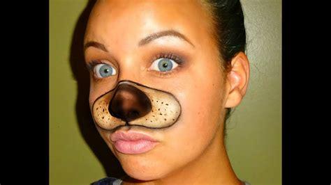 halloween series  snapchat dog filter tutorial youtube
