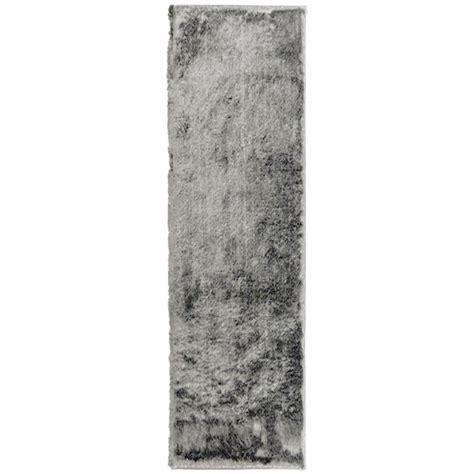 so silky rug home decorators collection so silky grey 2 ft x 9 ft area rug silky2x9gy the home depot