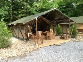 Permanent Tent Cabins safari tents and glamping in gatlinburg
