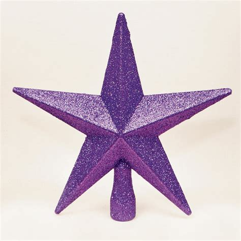 purple christmas tree top star topper glitter finish
