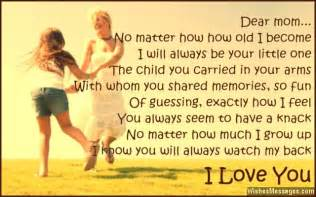 i love you poems for mom wishesmessages com