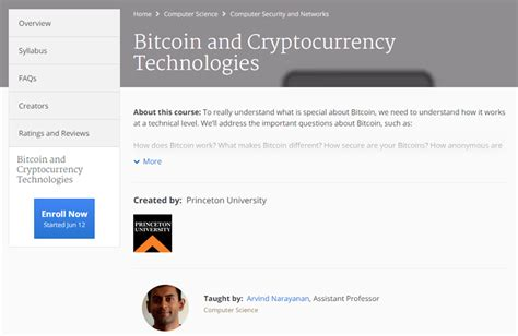 Cryptocurrency Coursera 강의 소개 Introducing Cryptocurrency