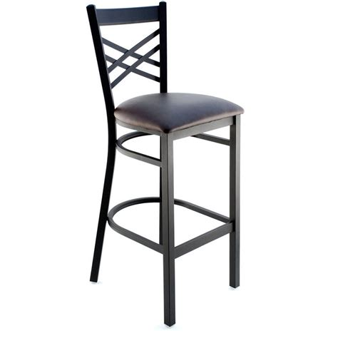 Metal Bar Stool With Back X Back Metal Bar Stool