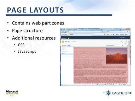 zone layout web part page layouts contains web part