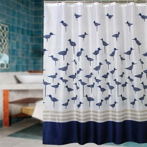 shower curtains with birds aliexpress com buy fabric polyester blue lucky birds