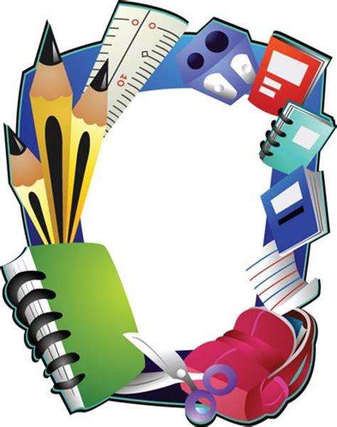 school supplies template vector free school frame vectors