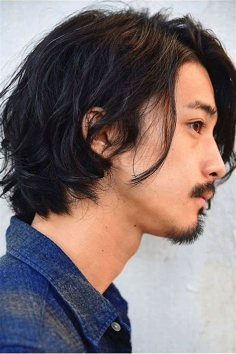 japanese haistyle wavy synthetic hair capless wig mens