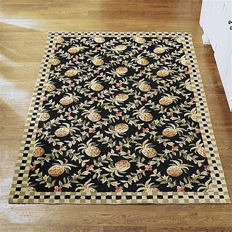 Pineapple Kitchen Rug Pineapple Wool Area Rug Traditional Rugs By Frontgate