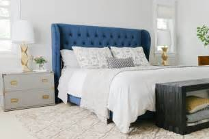 Blue Tufted Headboard Navy Blue Headboard Bedroom Interior Bedroom Blue Headboard Headboards And