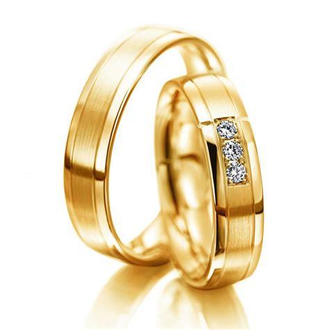 Hochzeitsringe Gelbgold by Hochzeitsringe Meister Gelbgold Matt Poliert Gold