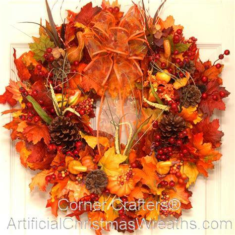 fall wreaths bountiful harvest fall wreath artificialchristmaswreaths