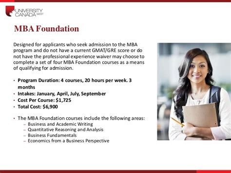 Mba Waiver Sle Test Accounting Finance by Canada West Presentation 271014 V1
