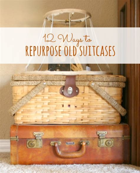 vintage this repurpose that 12 ways to repurpose old suitcases dukes and duchesses