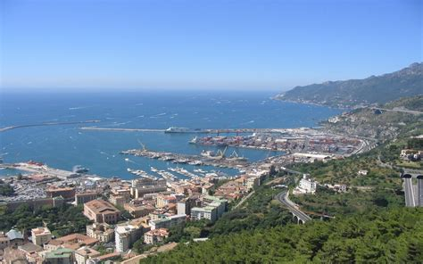 port salerno port salerno view from the castle wallpapers13