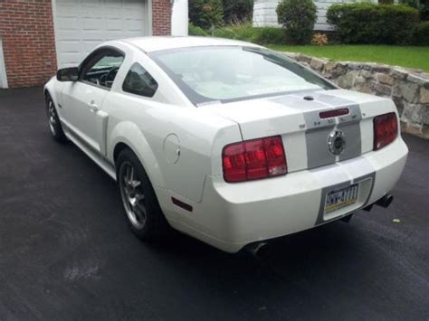 sell used 2007 mustang shelby gt sc coupe white 550 hp