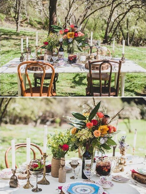 DIY Vintage Boho Chic Wedding Ideas   Weddings Tabletops