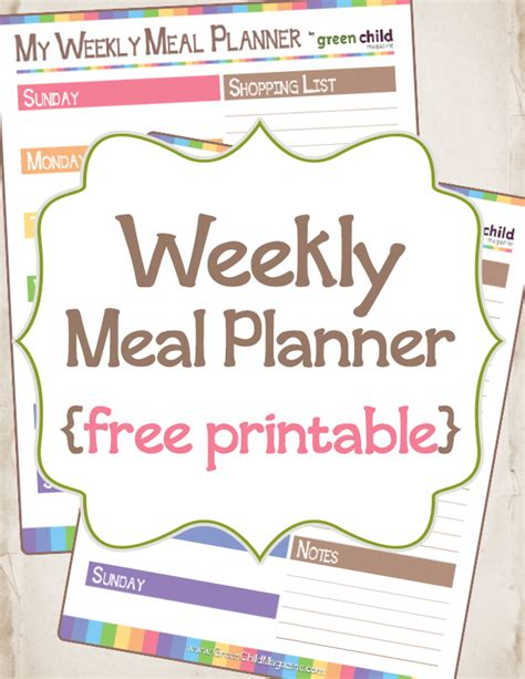 free printable meal planning guide 6 best images of free printable meal planner guide
