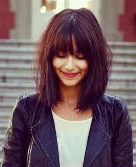 long bob with fringe 20 best bob hairstyles with fringe bob hairstyles 2017