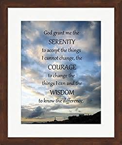 serenity prayer picture frame serenity prayer skies framed print wall picture brown frame with hanging
