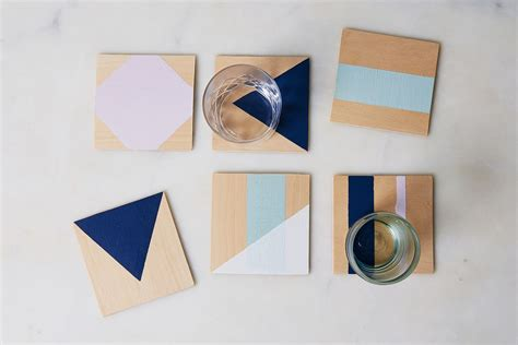 coasters diy the power of painter s tape as proven by these diy coasters