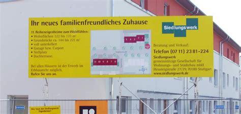 Bauschild Alu Dibond by Bauschilder Als Werbetr 228 Ger Individuell Bedruckt Und