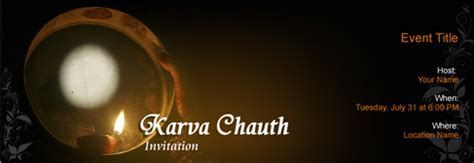 Free Karva Chauth invitation with India?s #1 online tool