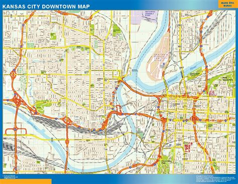 Apartment Map Kansas City Kansas City Downtown Map Order Australia Wall Maps