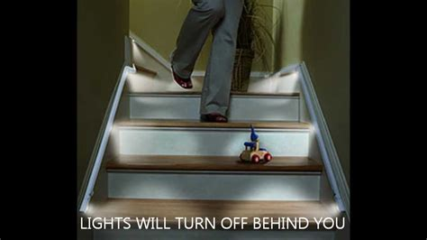 led strip lights for stairs automatic stair lights led strips by ariatronics youtube