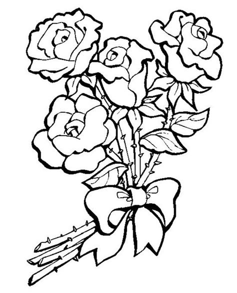 coloring pages of bunch of flowers bunch of roses coloring pages coloring pages