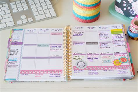 How To Keep A Clean House Schedule by Peep My Planner 5 Our Holly Days