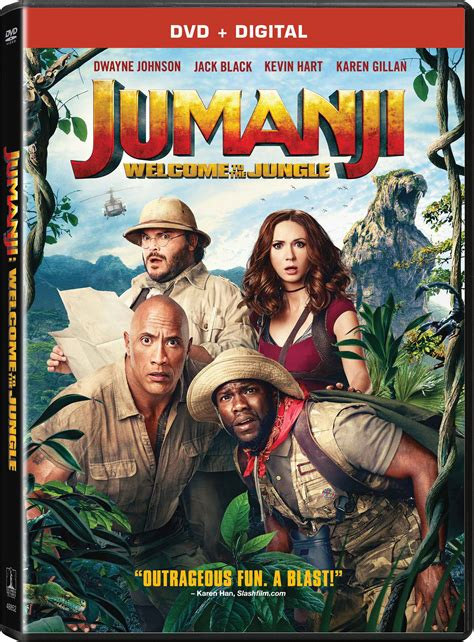 movies out now jumanji welcome to the jungle by dwayne johnson jumanji welcome to the jungle dvd release date march 20 2018